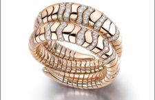 Bracciale della collezione Millefoglie in oro rosa e diamanti