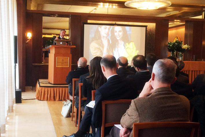 Diego Nardin, amministratore delegato di Fope, alla presentazione dei dati di bilancio 2018