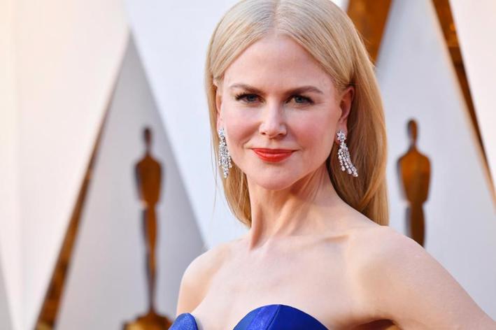 Nicole Kidman con orecchini di diamanti Harry Winston