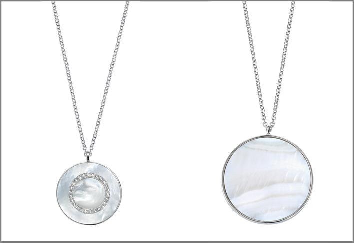 Pendenti in argento e madreperla
