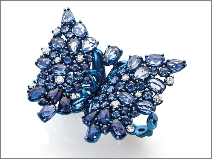 Giovanni Ferraris, anello farfalla della collezione Titanium