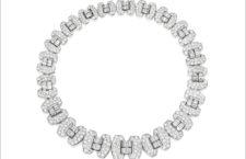 Collana-bracciale in oro bianco e diamanti di Chaumet
