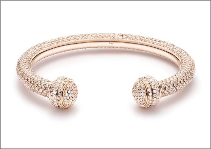 Bracciale della collezione Possession in oro rosa e diamanti