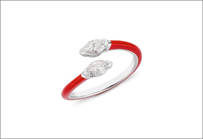 Anello della collezione Diamonds in Red