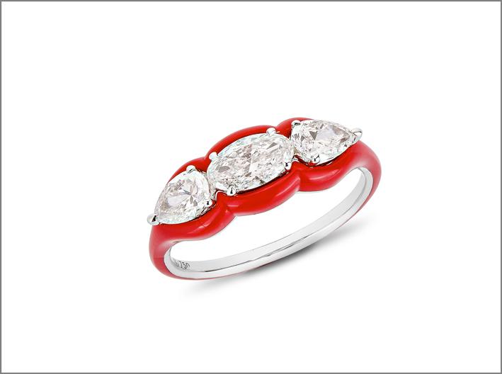 Etho Maria, anello della collezione Diamonds in Red