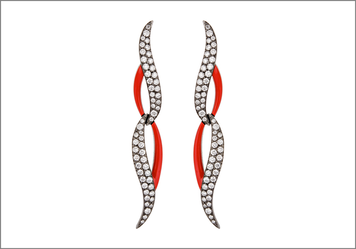 Etho Maria, orecchini della collezione Diamonds in Red