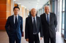 Da sinistra, Matteo Marzotto, Lorenzo Cagnoni, Ugo Ravanelli