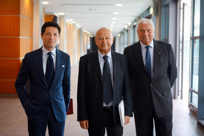 Da sinistra, Matteo Marzotto, Lorenzo Cagnoni, Ugo Ravanelli, ad di Ieg