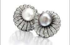 Suzanne Belperron, orecchini in platino con perle e diamanti, anni Cinquanta
