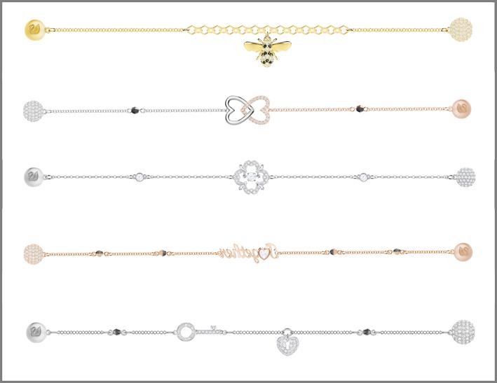 Swarovski, bracciali della Remix Collection