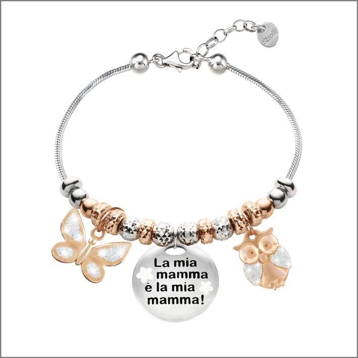 Bracciale Love Beats con medaglia dedicata alla mamma