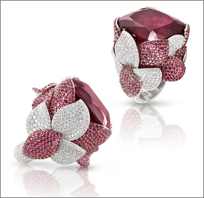 Collezione Atelier Vento, anelli con rubellite