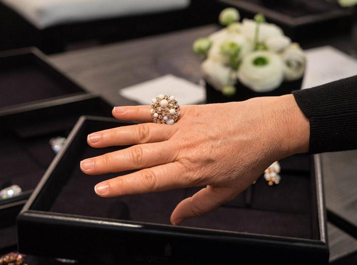 Anello della collezione Gaïa indossato
