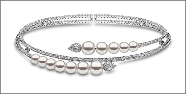 Bracciale con perle e diamanti