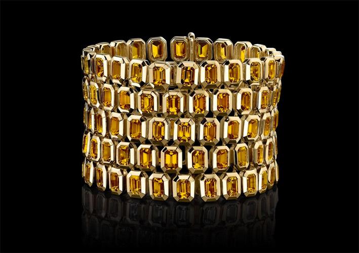Bracciale in oro e citrini della collezione Style of Jolie