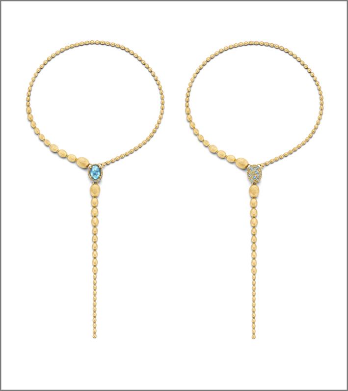 Collane in oro e pietre naturali della collezione Dancing Reverse