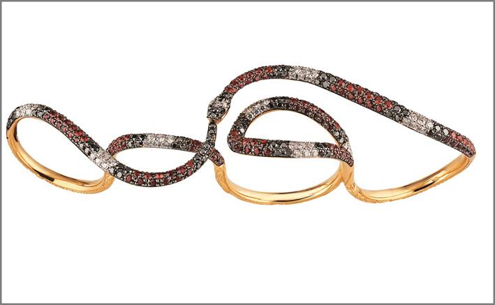 Gucci, anello multi dita