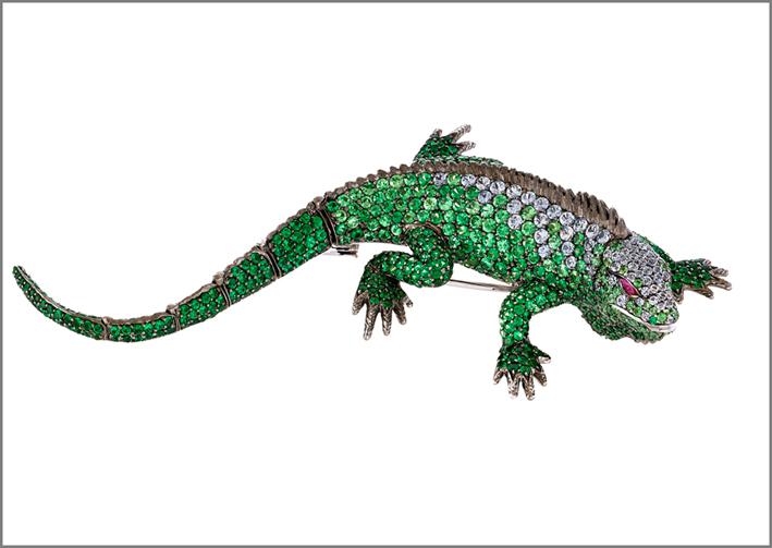 Spilla Iguana della collezione Animalier