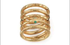Gucci, cinque anelli della collezione Orobouros