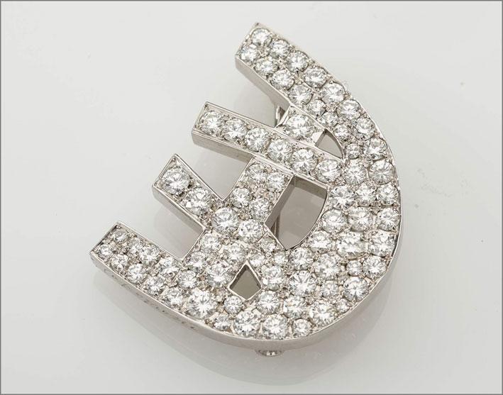 Spilla con diamanti di Capogrossi