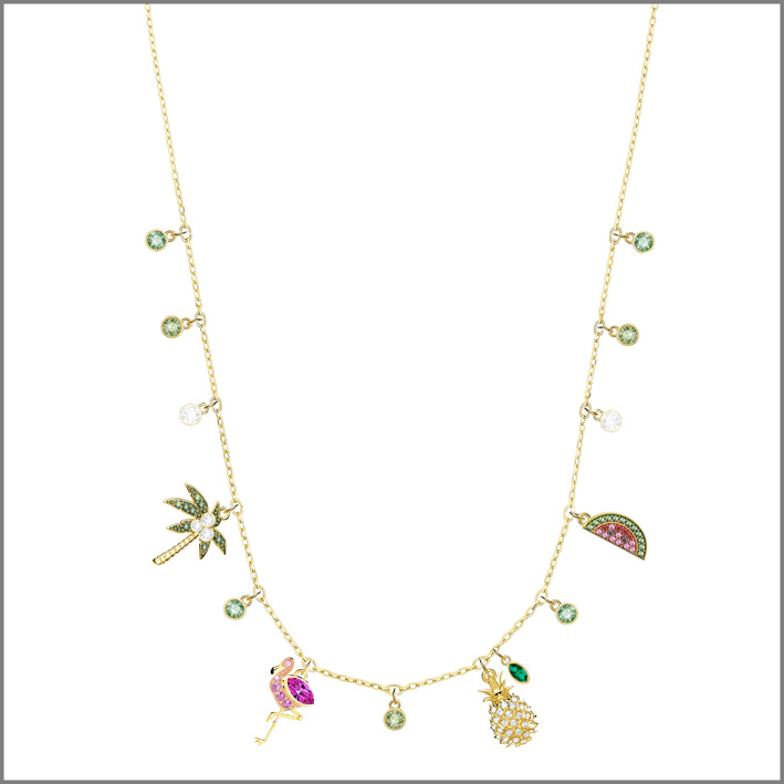 Collana Lime con ciondolo  Flamingo