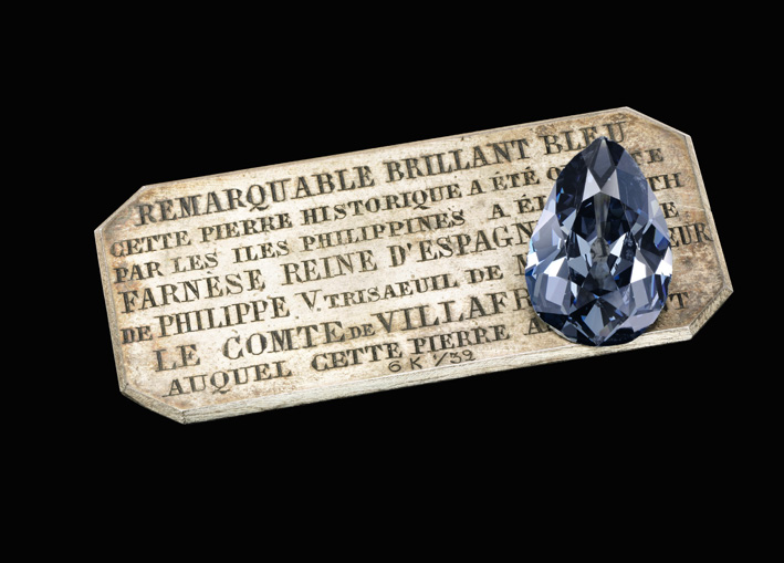 The Farnese Blue. Historic and highly important fancy dark grey-blue diamond weighing 16.16 carats
