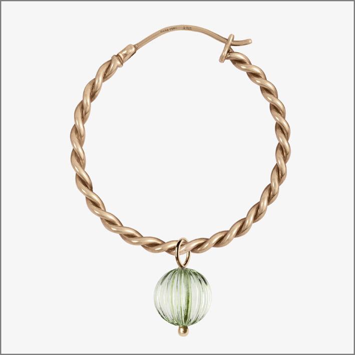 Bracelet, Rosegold, Prasiolite