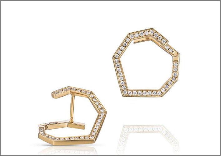 Orecchini Mini Stellar in oro giallo e diamanti
