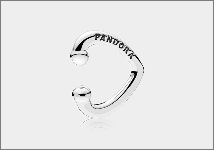 Ear cuff Pandora argento