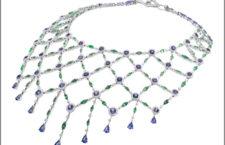 Collana della collezione Nexus, con diamanti, tsavoriti e tanzaniti