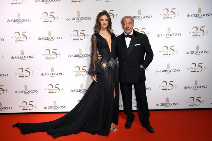 Alessandra Ambrosio con Fawaz Gruosi
