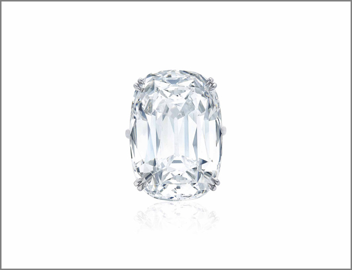 Anello con diamante da 50,47 carati di Harry Winston