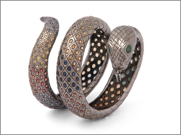 Bracciale in argento e zaffiri
