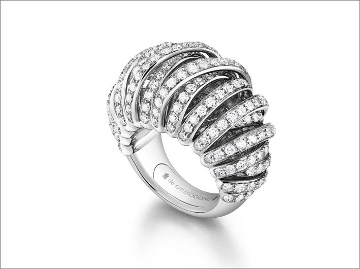 Allegra Glow, in oro bianco e diamanti bianchi