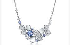Collana con diamanti bianchi e tanzaniti