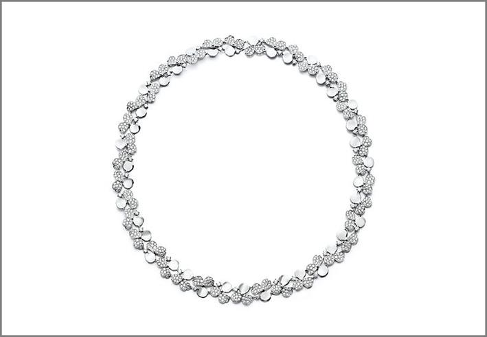 Collana con diamanti cluster