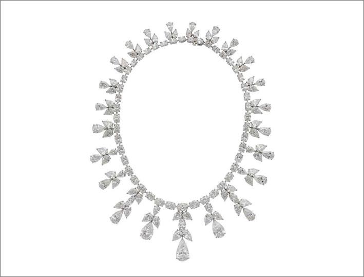 Collana di diamanti con frange
