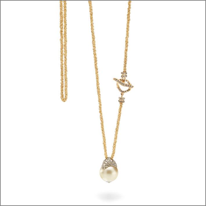 Antonini, collana in oro e perla
