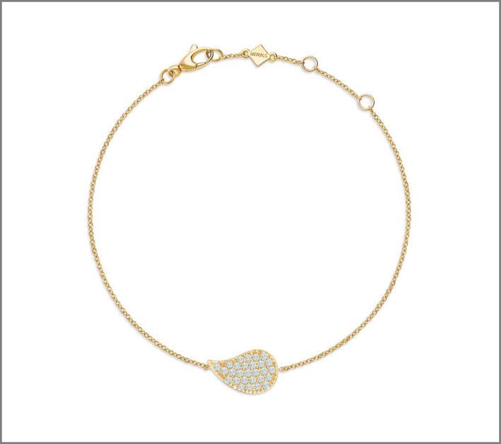 Bracciale con ciondolo in oro e diamanti