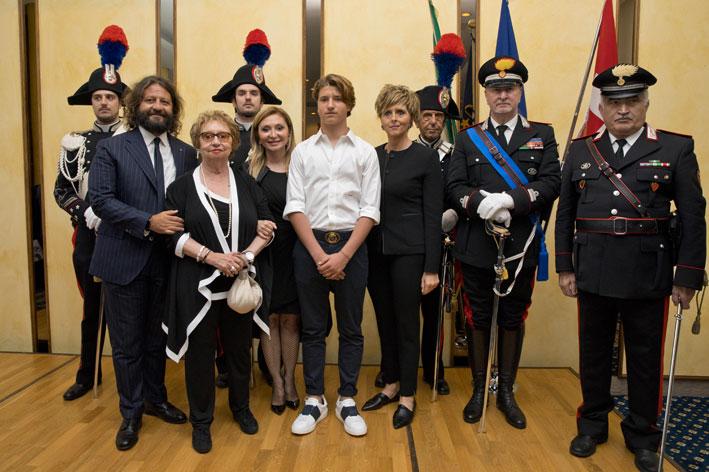 Da sinistra, Guido Damiani, Gabriella Damiani, Silvia Damiani, Leonardo Damiani, Erica Mazzetti
