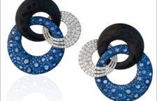 Fabio Salini, orecchini in fibra di carbonio, diamanti, zaffiri