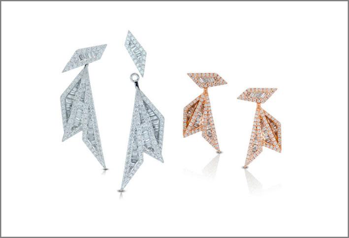 Orecchini della collezione Origami