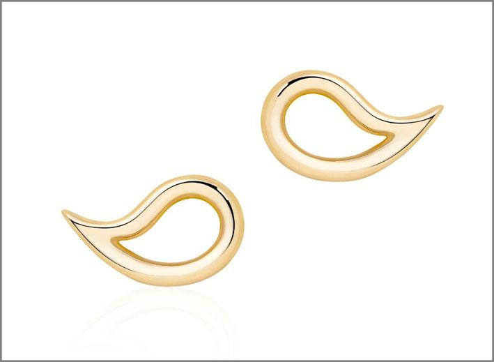 Birks, orecchini in oro della collezione Pétale