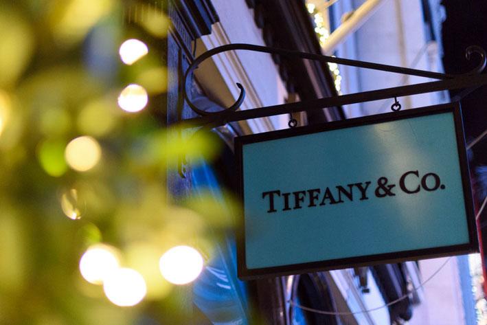 Insegna di Tiffany a Londra