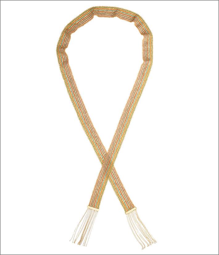 Collana-sciarpa Arcobaleno, con oro di diversi colori