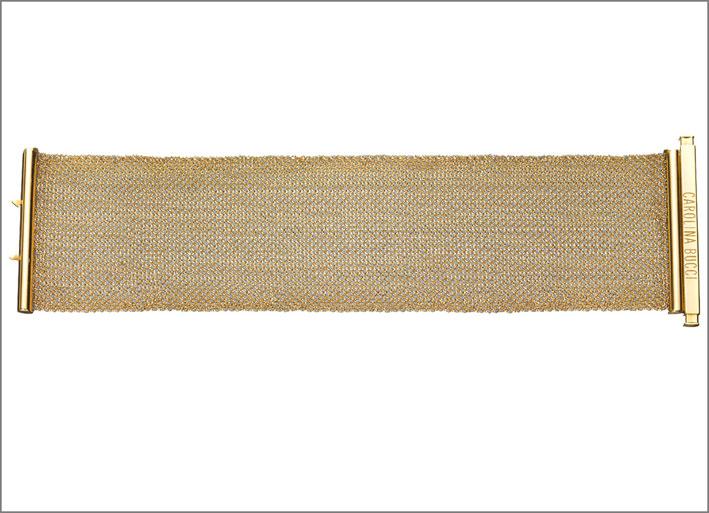 Bracciale con tessuto in oro melange