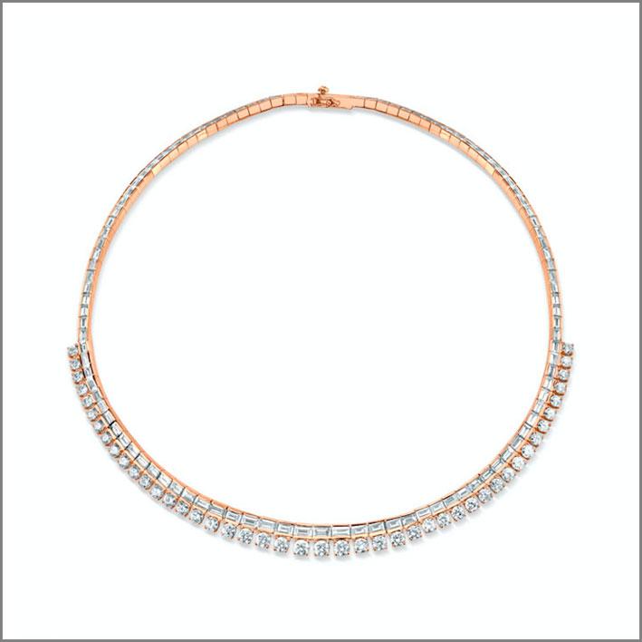Choker in oro rosa e diamanti