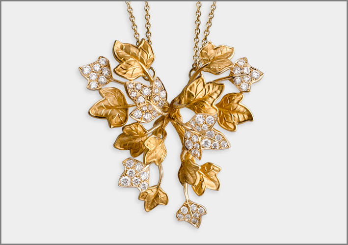 Necklace Verona, yellow gold 18kt and diamonds