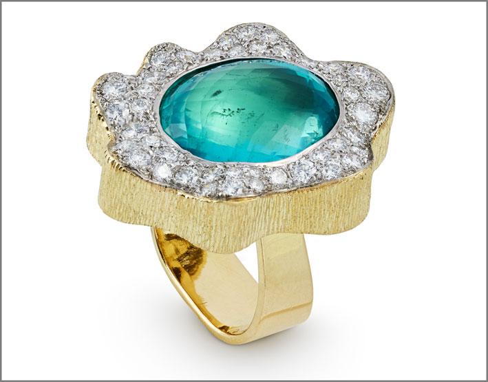 Grima, anello con smeraldo, 1995