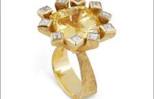 Grima, anello con zaffiro giallo
